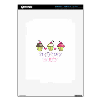 BIRTHDAY PARTY DECAL FOR iPad 3