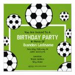 Birthday Party - Soccer Field & Soccer Balls Custom Announcement