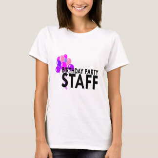 Birthday party staff t shirts shirt designs zazzle for Event staff shirt ideas