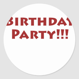 Birthday Party Sticker
