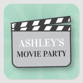 Birthday Party Stickers Movie Film Cinema Night
