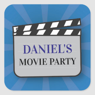 Birthday Party Stickers Movie Film Clapper Night