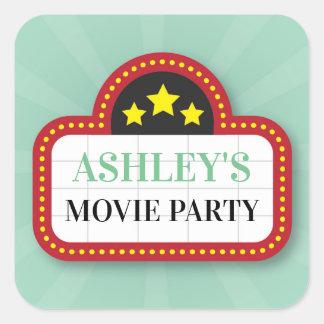 Birthday Party Stickers Movie Film Ticket Night