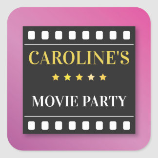 Birthday Party Stickers Movie Film Ticket Theatre