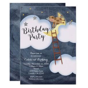 Birthday Party Storybook Nursery Rhyme Invitations
