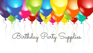 Party business cards templates zazzle birthday party supplies balloon business card reheart Gallery