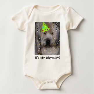 Birthday Party Terrier Dog/ It's My Birthday! Baby Bodysuit
