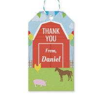 Birthday Party Thank You Tags Farm Yard Barn