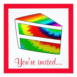 Birthday Party Tie Dye Cake Card