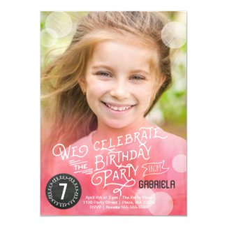 Birthday Party Watercolor | Invitations Girl |