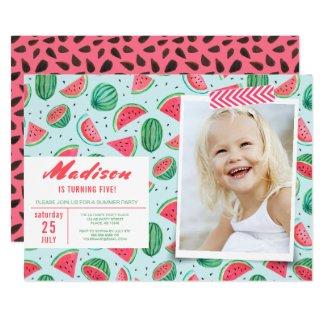 Birthday Party | Watermelon Fruit | Invitations