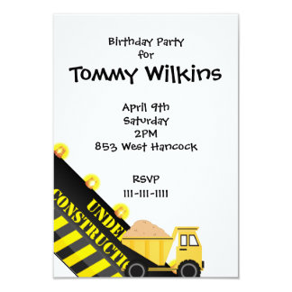 Birthday Party With Dump Truck Card
