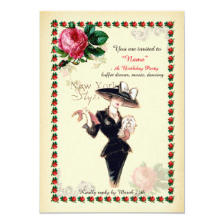 Birthday Party woman Any age, Gatsby, Art-Deco Card