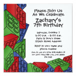 Birthday Party - Young Boy 5.25x5.25 Square Paper Invitation Card