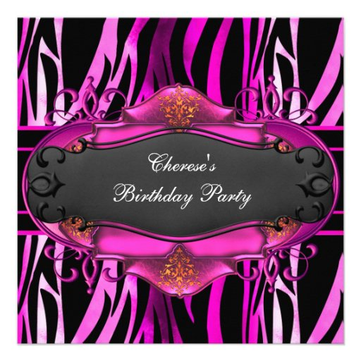 Birthday Party Zebra And Pink Image Inspiration of Cake and