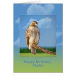 Birthday, Pastor, Rough Legged Hawk Bird Cards