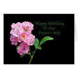 Birthday, Pastor's Wife, Pink Garden Roses Card