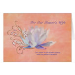 Birthday, Pastor's Wife, Water Lily, Religious Greeting Card