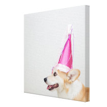 Birthday Pembroke Welsh Corgi Dog Canvas Print