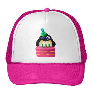 Birthday Penguin With Cake Trucker Hat