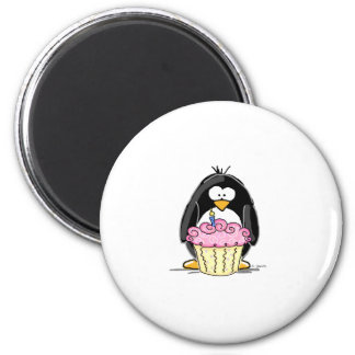 Birthday Penguin with Cupcake Fridge Magnets