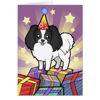 Birthday Phalene / Japanese Chin Card