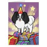 Birthday Phalene / Japanese Chin Greeting Card
