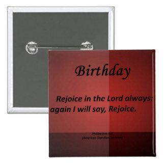 Birthday Philippians 4-4 Button