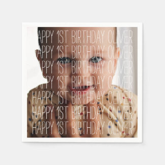 Birthday Photo Napkin