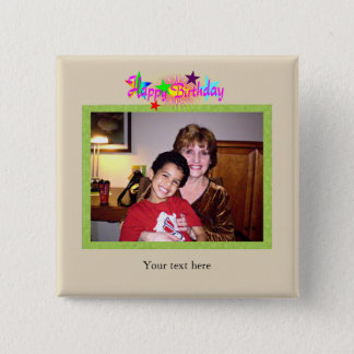 Birthday photo template button