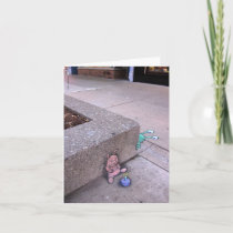 birthday pig surprise greeting card