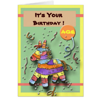 Birthday Pinata Card