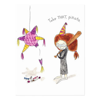 Birthday Pinata Postcard