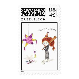 Birthday Pinata Stamp
