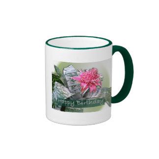 Birthday Pink Bromeliad Coffee Mug