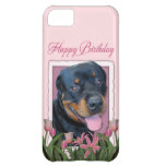Birthday - Pink Tulips - Rottweiler - Harley Cover For iPhone 5C