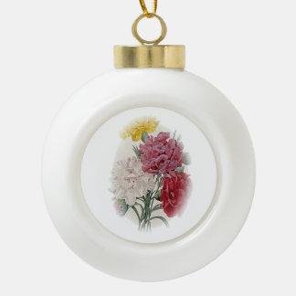Birthday Pinks - Soft Edged Oval Ceramic Ball Christmas Ornament