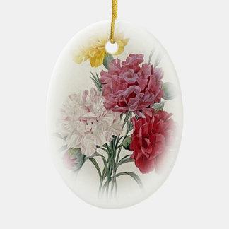 Birthday Pinks - Soft Edged Oval Ceramic Ornament