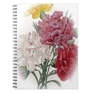 Birthday Pinks - Soft Edged Oval Spiral Notebook