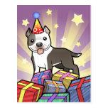 Birthday Pitbull / American Staffordshire Terrier Postcard