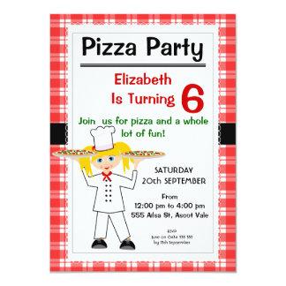 Birthday Pizza Party Invitation
