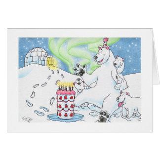 Birthday Polar Bear Greeting Card