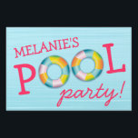 "Birthday Pool Party Float Yard Sign<br><div class=""desc"">Let your guests know they&#39;re at the right place for the pool party with this fun yard sign that is personalized with your child&#39;s name.</div>"