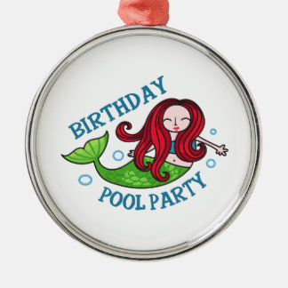 Birthday Pool Party Ornaments
