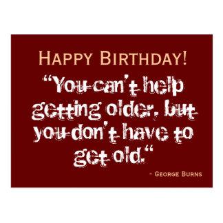 Birthday Postcard - Burns