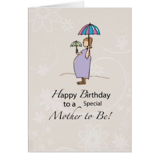 Birthday Pregnant Mom Card