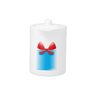Birthday present blue teapot