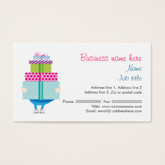 Birthday present or gift services stationery business card