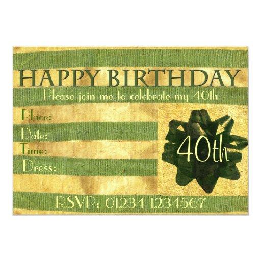 Birthday Present Party Invitation Custom Invite