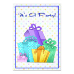 "Birthday Presents Invitation 5"" X 7"" Invitation Card"